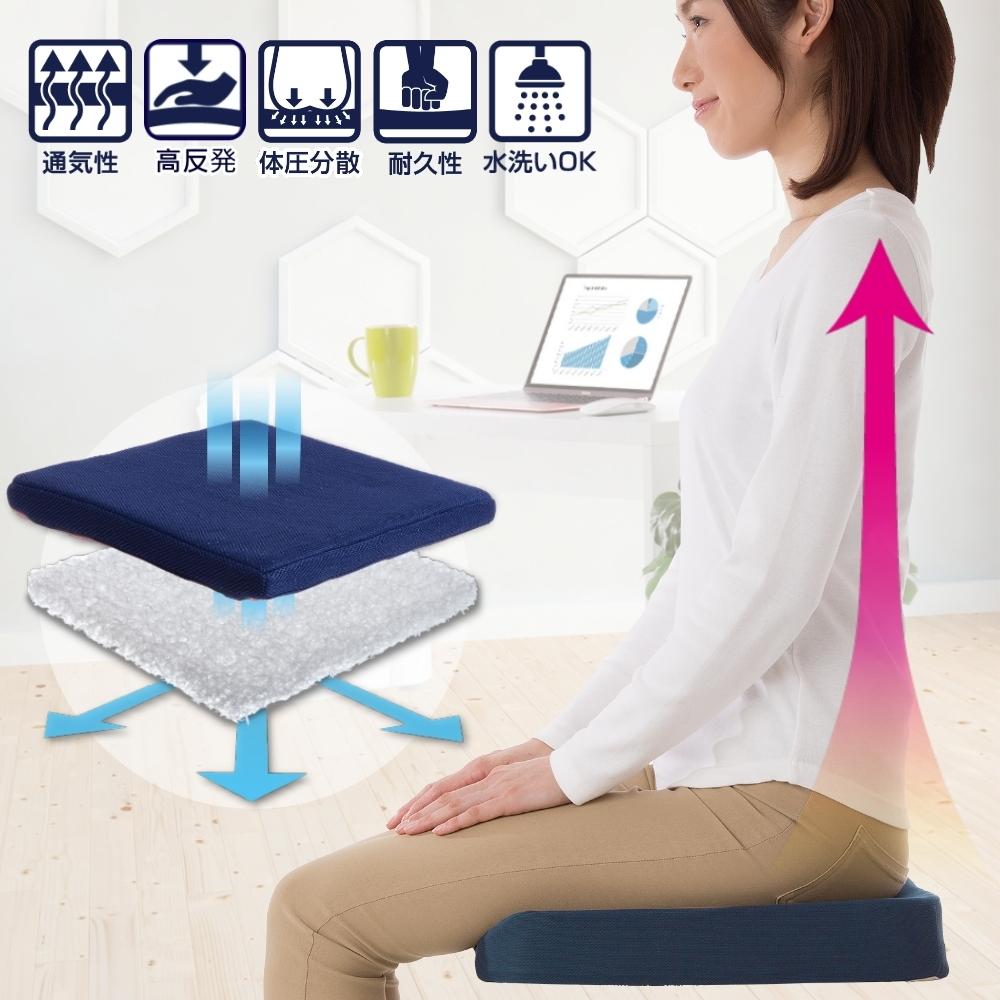 可水洗。高反發空氣感舒壓透氣坐墊/椅墊