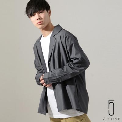 西裝造型設計襯衫(2色) ZIP日本男裝