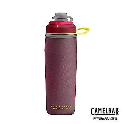 【美國 CamelBak】500ml Peak Fitness運動保冰噴射水瓶 珊瑚紅