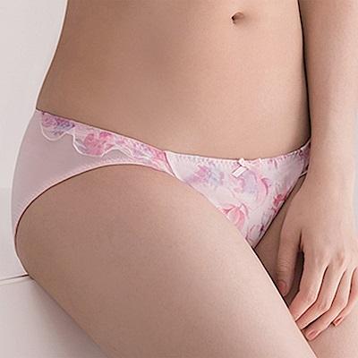 莎薇-花漾粉水M-LL 低腰三角內褲(蜜桃粉)冰涼透氣-包臀