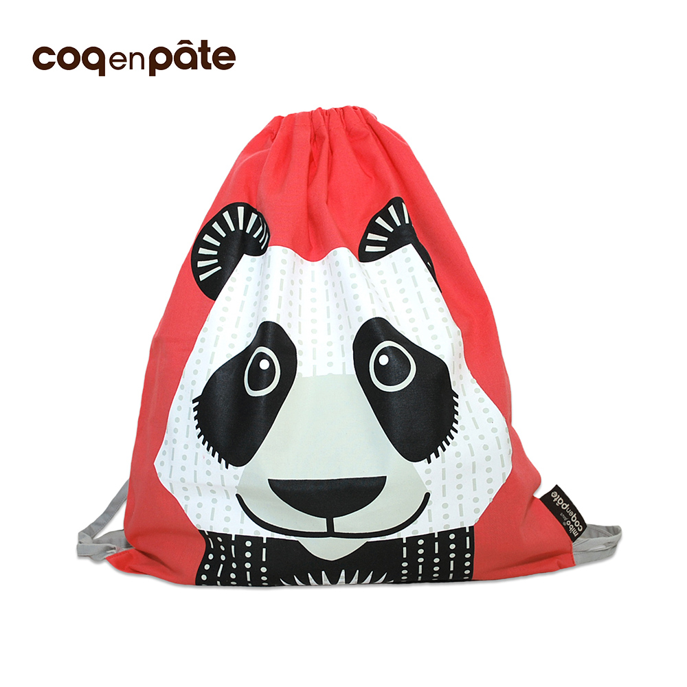 【COQENPATE】法國有機棉無毒環保布包 - 童趣輕鬆包- 熊貓 @ Y!購物
