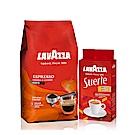 LAVAZZA 濃醇咖啡豆(1000g)+每日咖啡粉(250g)
