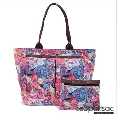 LeSportsac - Standard大手提水餃包-附化妝包(紫色童話)