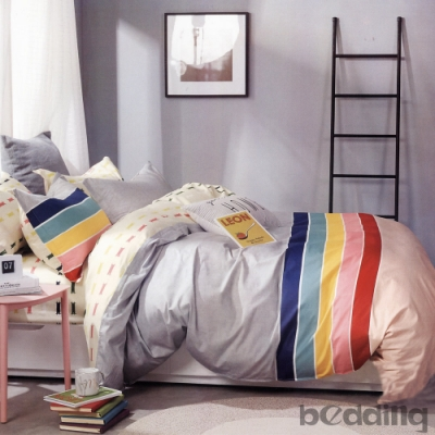 BEDDING-多款-100%棉單人全鋪棉床包兩用被套三件組