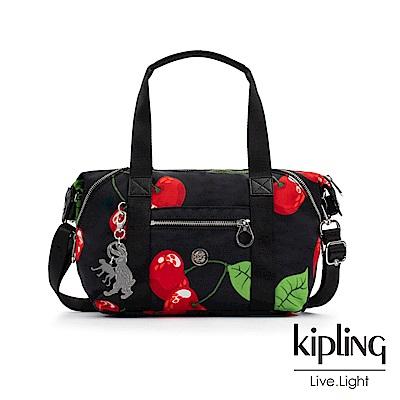 Kipling x HELEN LEE聯名款-艷彩櫻桃圖騰手提側背包-ART MINI