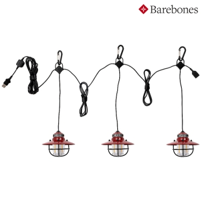 【Barebones】串連垂吊營燈Edison String Lights LIV-267 紅色