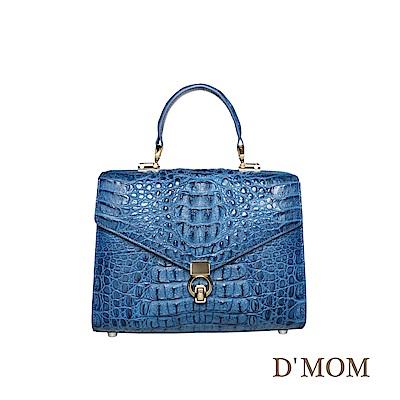 DMOM典藏工藝鱷魚時尚包-藍