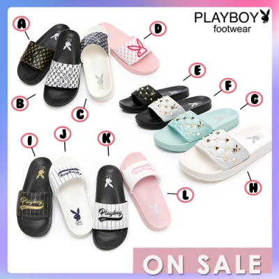 【時時樂限定】  PLAYBOY品牌休閒拖鞋-12款可選