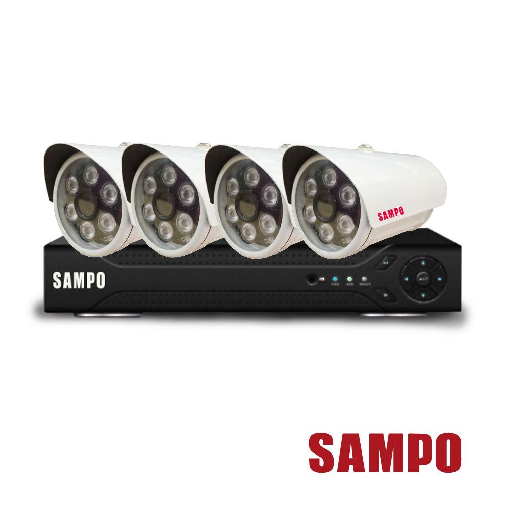 聲寶 9路主機(DR-XS0889NV)+4顆攝影機(VK-XC3320C)
