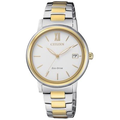 CITIZEN 星辰LADYS簡約優雅時尚光動能女腕錶-半金(FE6094-84A)