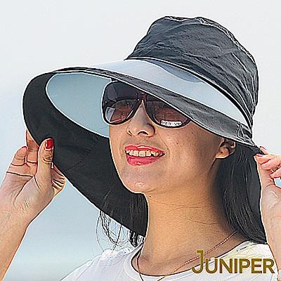 JUNIPER 女款抗紫外線UV防潑水鏡面素色高頂遮陽漁夫帽