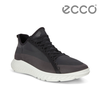 ECCO ST.1 LITE M 流線透氣運動休閒鞋 男鞋 黑色