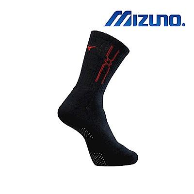 MIZUNO 男運動厚底襪 5入 黑X紅 32TX900896