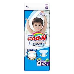 GOO.N日本大王 日本境內版-黏貼型紙尿褲(XL)-42片/包-透氣舒柔