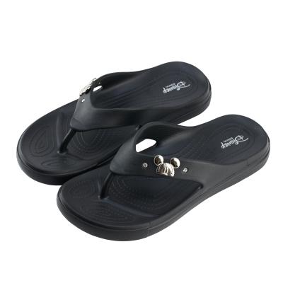 迪士尼親子鞋 米奇 輕量大人夾腳拖鞋-黑