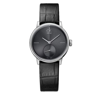 Calvin Klein 獨立秒針皮革腕錶  Accent CK K2Y231C3(小)