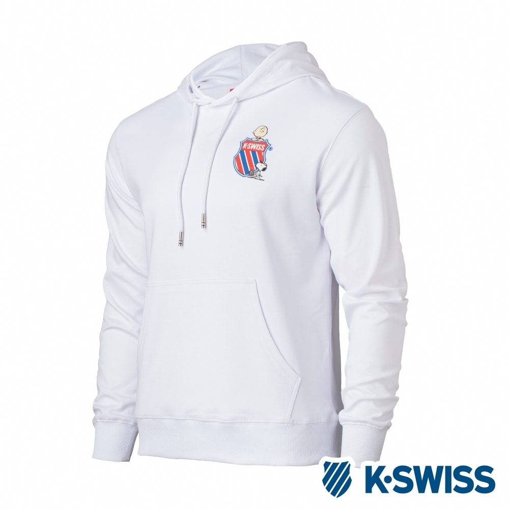 K-SWISS Hood Sweatshirt SNOOPY連帽上衣-男-白