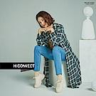 H:CONNECT 韓國品牌 女裝-腰間綁帶格紋襯衫洋裝-綠