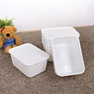 【HOUSE】純白牛奶附蓋收納盒-圓角1號-小低桶(6入)台灣製造