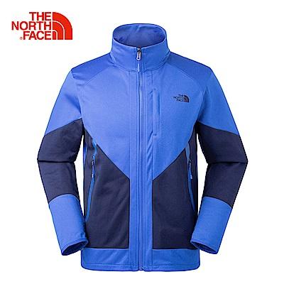 The North Face北面男款藍色舒適保暖抓絨外套|3L8U1SK