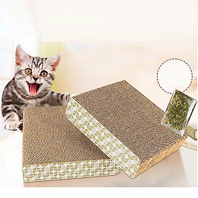 dyy》貓玩具磨爪器貓爪板瓦楞紙貓抓墊25cm*23cm