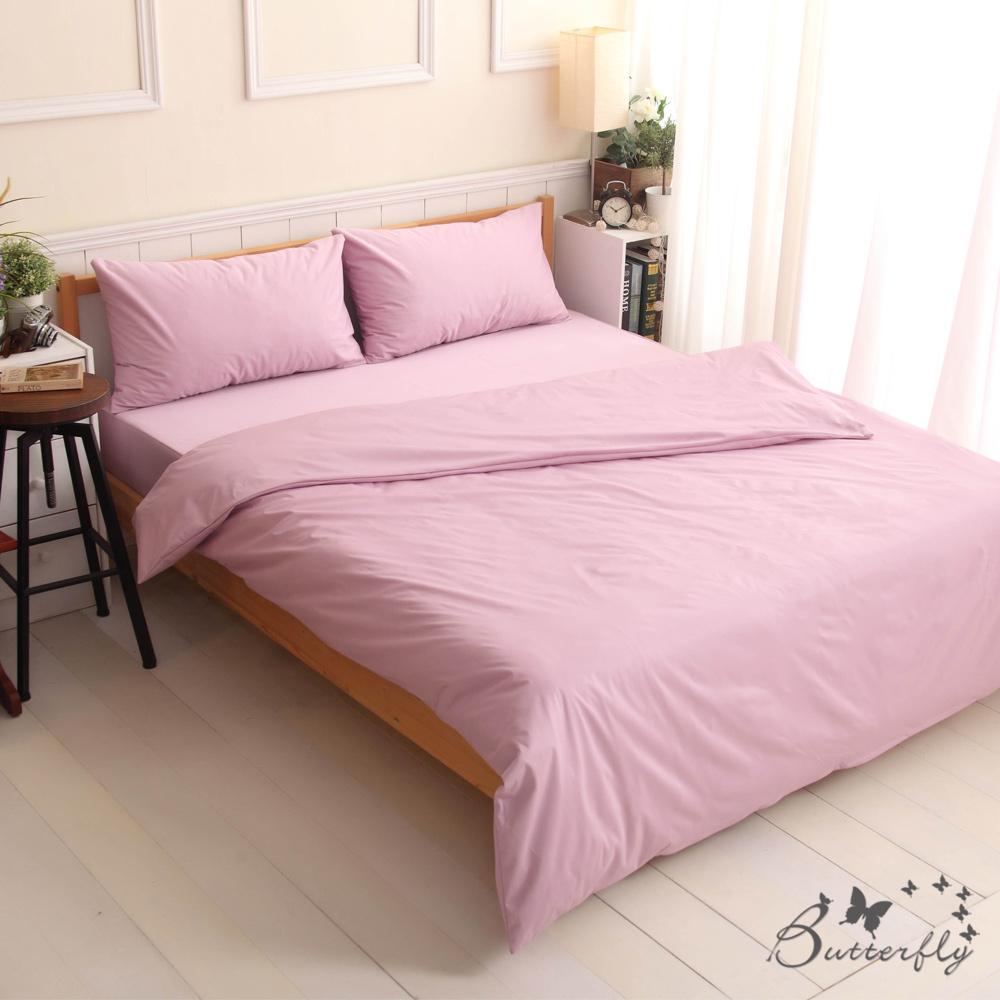 BUTTERFLY-SGS專業級認證抗菌高透氣防水保潔墊-特大雙人床包四件組-紫色