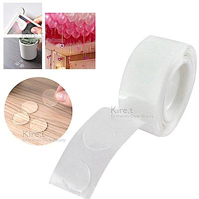 kiret 超黏Acrylic膠點貼片/隱形無痕雙面膠-100粒/捲