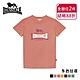 【LONSDALE 英國小獅】經典LOGO短袖T恤-粉橘LT001 product thumbnail 1