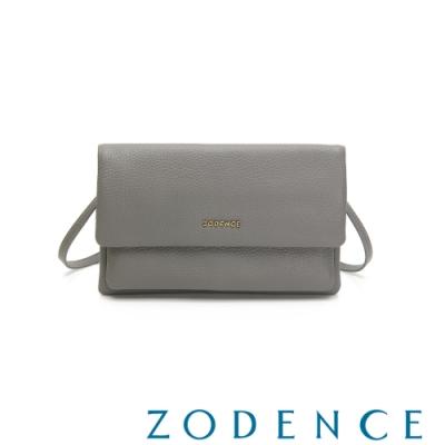 ZODENCE LIZ進口牛皮環狀式背帶肩背/斜背包 灰色