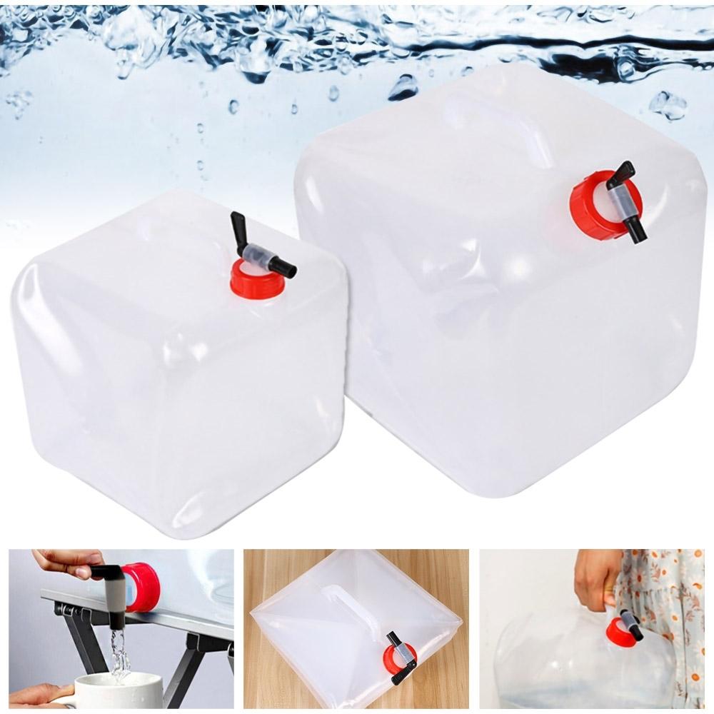 便攜式摺疊水龍頭儲水桶-15L(加贈20片防塵口罩)
