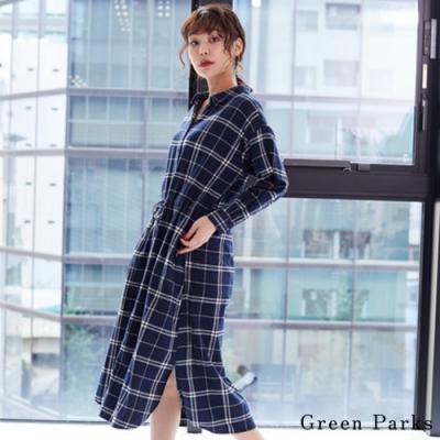 Green Parks 法蘭絨格紋連身洋裝
