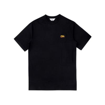 FILA 短袖圓領上衣-黑 1TEV-1507-BK