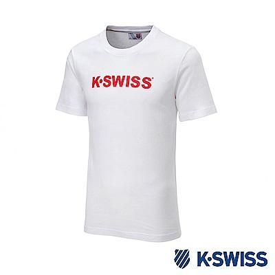 K-SWISS K-SWISS Logo Tee印花短袖T恤-女-白