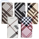 Apple iPhone XR 6.1吋 英倫格紋氣質手機皮套 5色可選