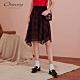 OUWEY歐薇 經典格紋雪紡長裙(紅) product thumbnail 1