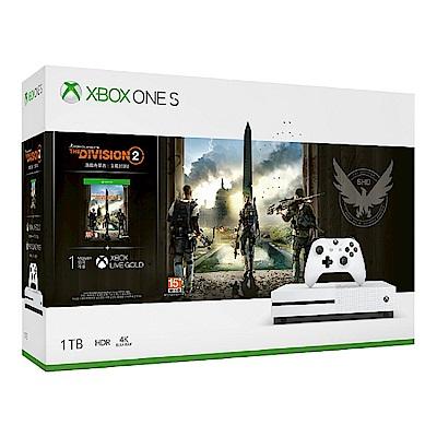 Xbox One S 1TB 《湯姆克蘭西:全境封鎖 2》同捆組