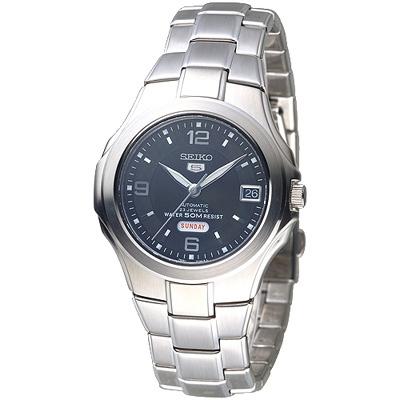 SEIKO 紳士5號盾牌23石機械腕錶-藍(SNZC23K1)/39mm