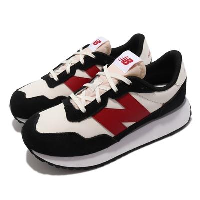 New Balance 休閒鞋 237 Wide 寬楦 N字鞋 童鞋 紐巴倫 麂皮 穿搭推薦 中大童 白 黑 GS237BR1-W