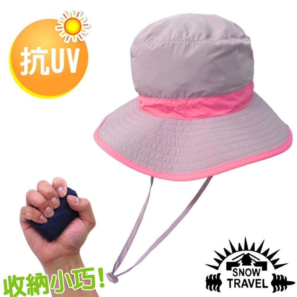 SNOW TRAVEL 抗UV吸濕排汗超輕戶外休閒帽_淺紫/桃紅