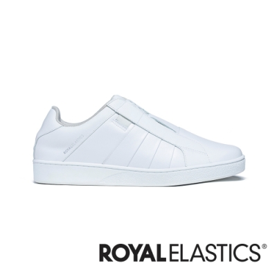 ROYAL ELASTICS Prince Albert 純白真皮時尚休閒鞋 (男) 01401-000