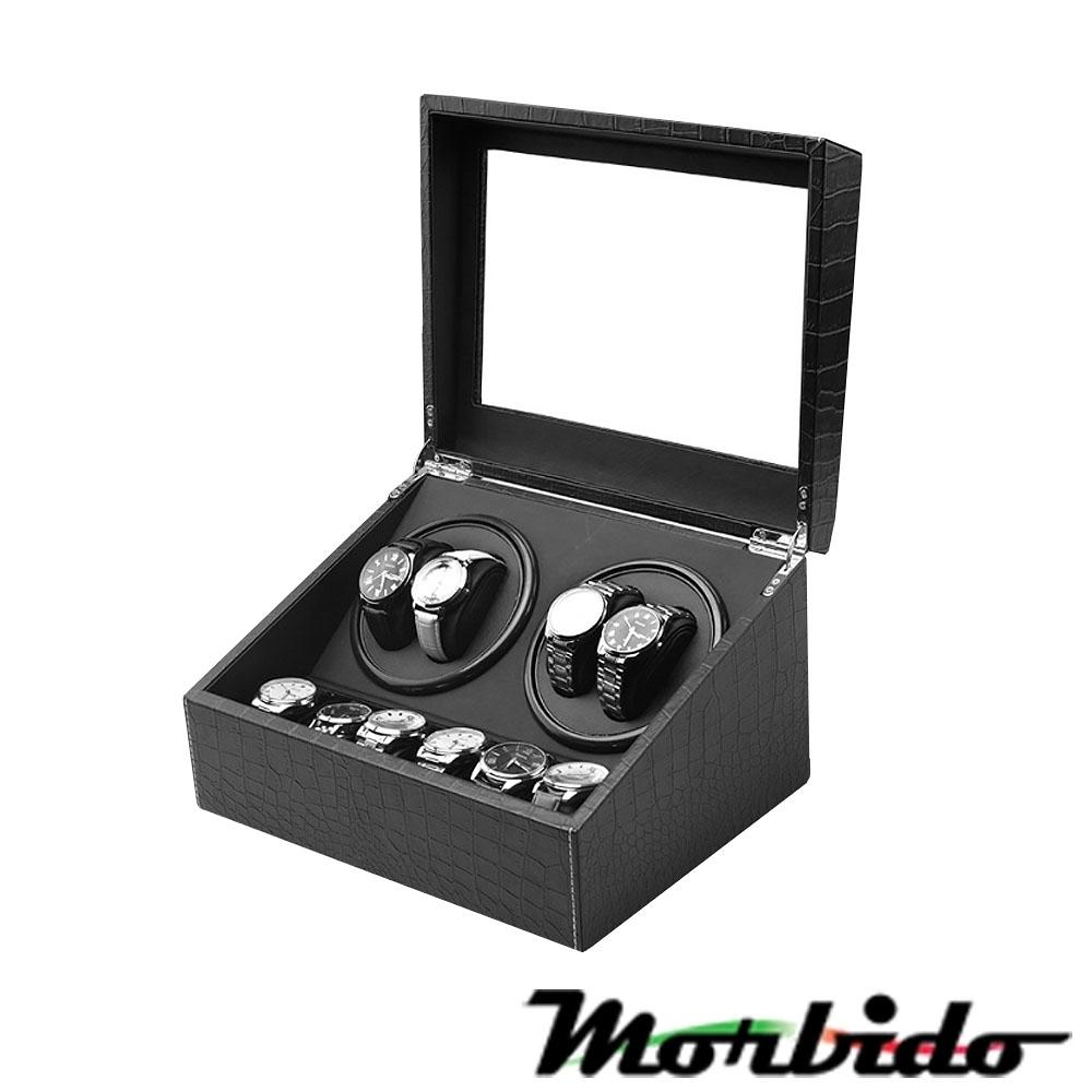 Morbido蒙彼多搖錶器/自動機械錶收藏盒/上鍊盒 鱷魚紋(4+6只入)