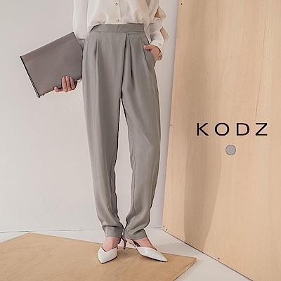 東京著衣-KODZ 俐落知性前打褶雙口袋西裝長褲-S.M