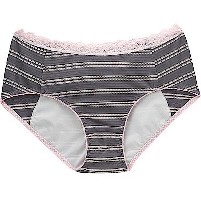 莎薇- 印花 M-LL 中低腰夜間生理褲(灰)吸濕透氣-貼身親膚
