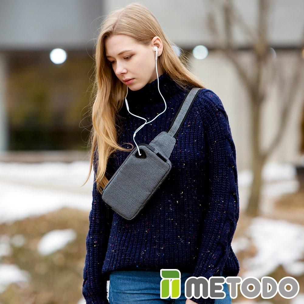 【METODO防盜包】Cross Bag S 不怕割隨身腰包/斜背包TSL-201黑