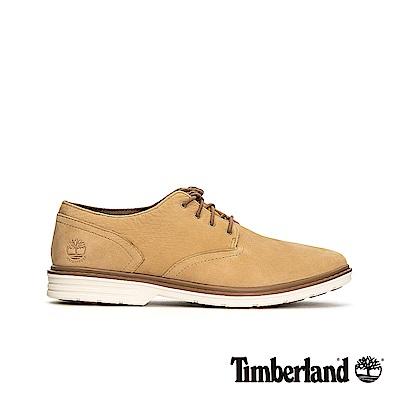 Timberland 男款淺棕色正絨面皮革防水牛津休閒鞋|A1VQN