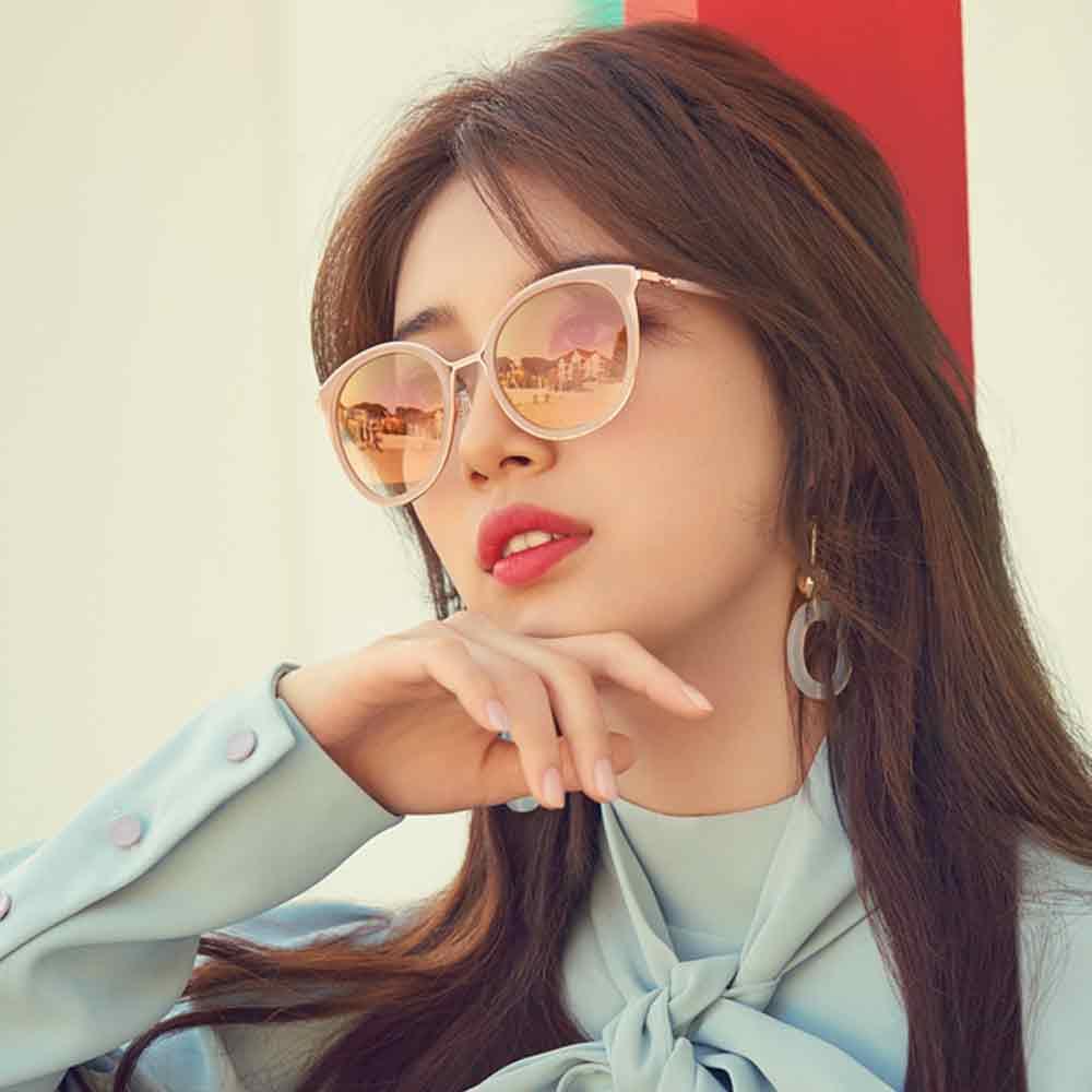 CARIN水銀太陽眼鏡 秀智代言 經典貓眼款/粉玫瑰金 #MADELEINE C2
