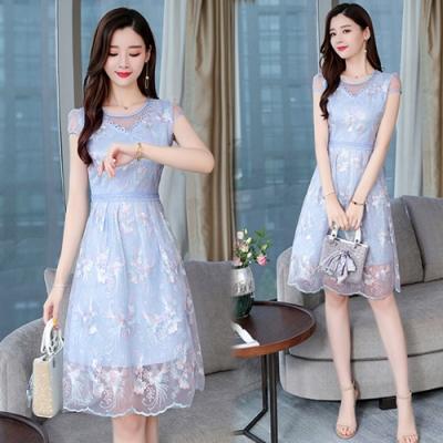 【韓國K.W.】時尚元素清新甜美碎花洋裝-2色