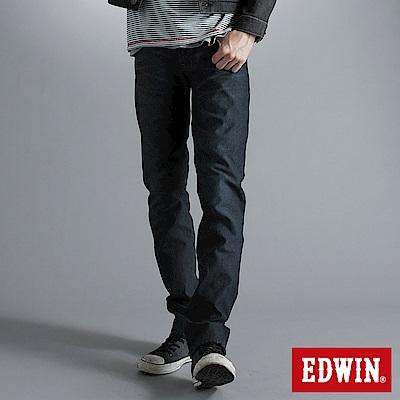 EDWIN 大尺碼 503ZERO雷射中直筒保溫褲-男-酵洗藍