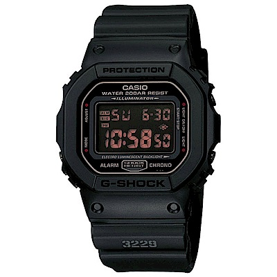 G-SHOCK 強悍黑旋風運動錶(DW-5600MS-1)-黑/42.8mm