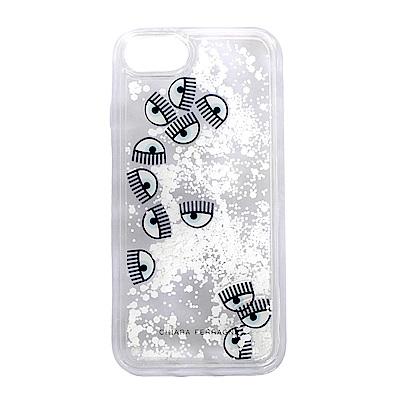 CHIARA FERRAGNI 白色雪花眨眼I phone 8 手機殼(4.7吋)